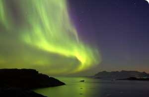 Northern Lights over the fjords