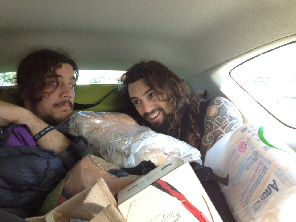 Ed and Will in the Download Car 2014